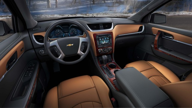 2015 Chevrolet Traverse LTZ - interior, tan leather