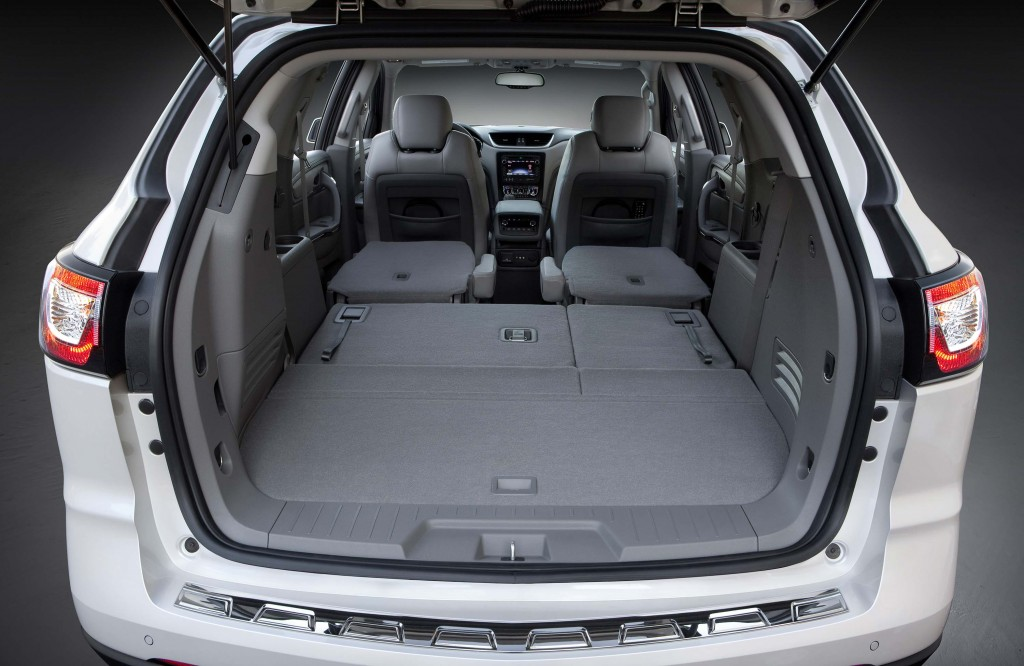 2016 Chevrolet Traverse LTZ - trunk, third and second rows down