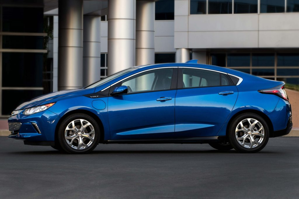 2017 Chevrolet Volt - side, blue