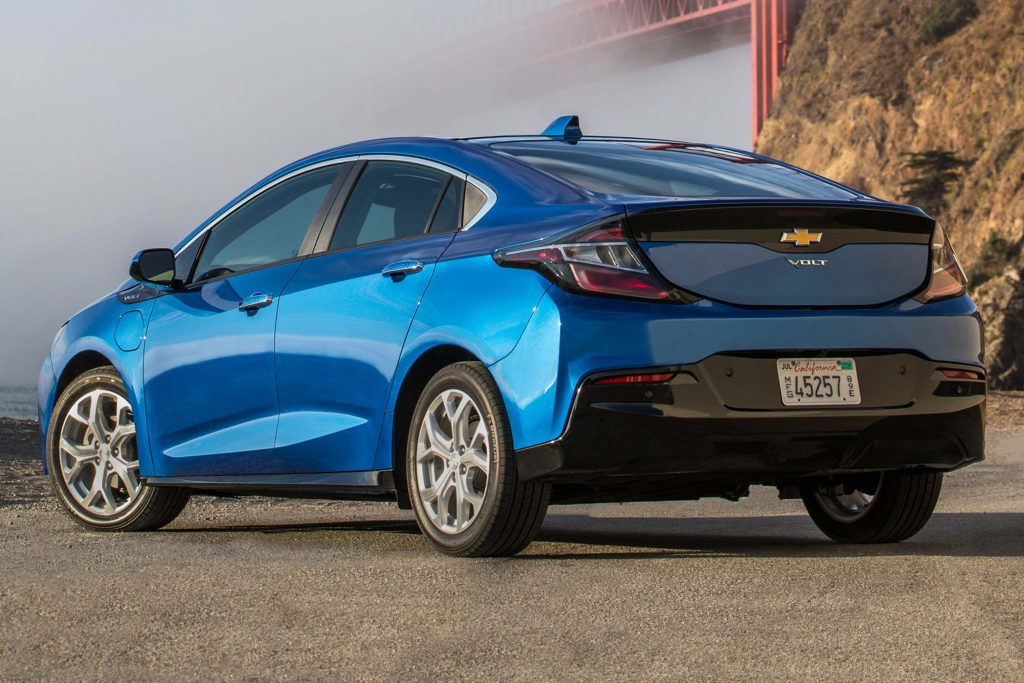 2017 Chevrolet Volt - rear, blue