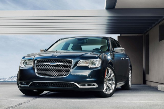 2015 Chrysler 300C Platinum - front, blue