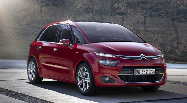 Citroen C4 Picasso - front, red