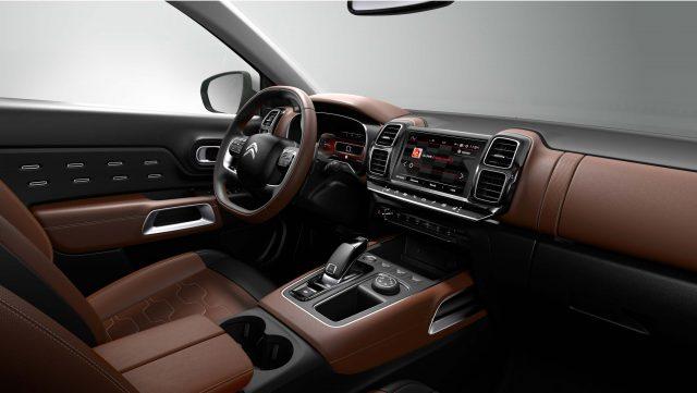 2018 Citroen C5 Aircross - interior, tan leather