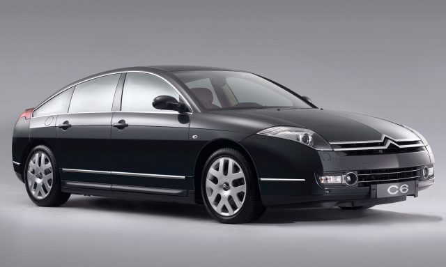 Citroen C6 (first generation) - front, black