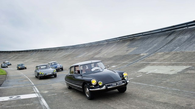 Citroen DS 60th anniversary meeting - on the track