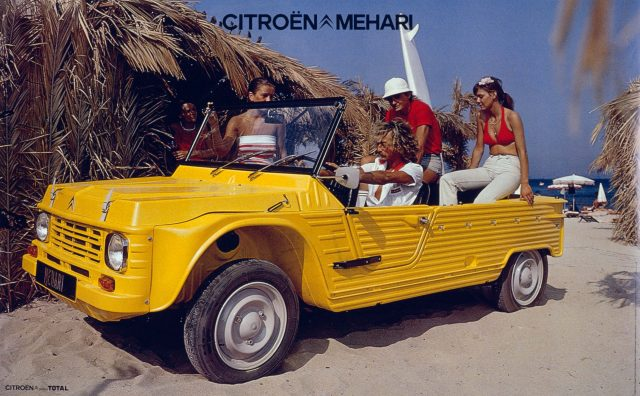 Citroen Mehari - front, yellow