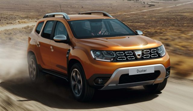2017 Dacia Duster - front, bronze