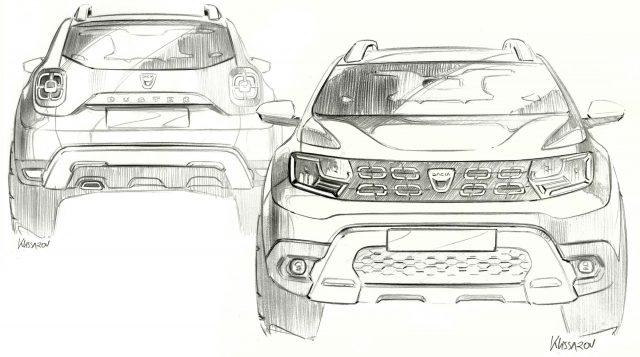 2017 Dacia Duster - sketch