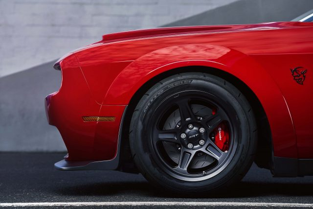 The 2018 Dodge Challenger SRT Demon is equipped with a set of fo