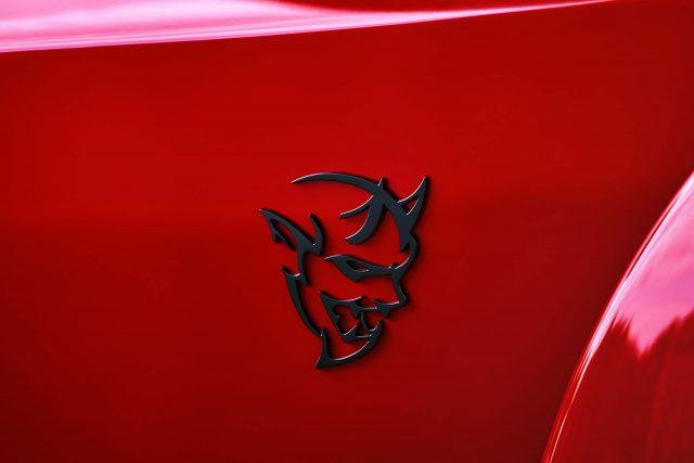 2018 Dodge Challenger SRT Demon fender logo.