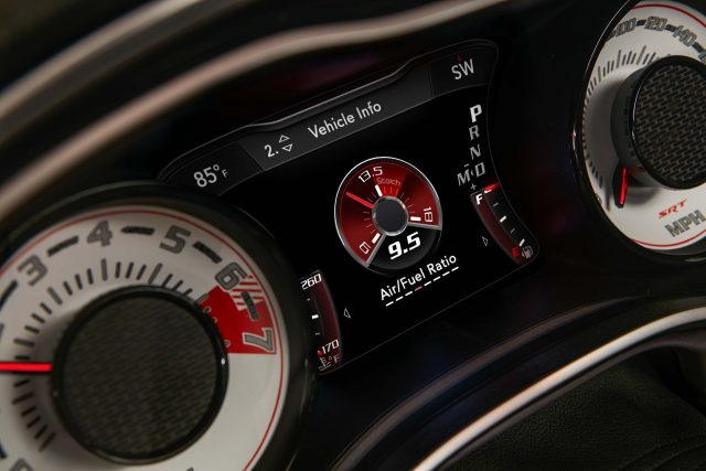 The Air/Fuel Ratio gauge is one of many performance information