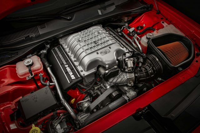 Under the hood of the 2018 Dodge Challenger SRT Demon is a 6.2-l