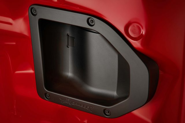 The standard Air-Grabber™ intake system features a significant