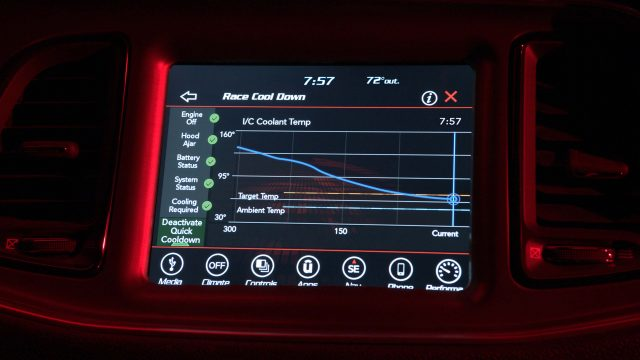 The 2018 Dodge Challenger SRT Demon's Performance Pages arm th