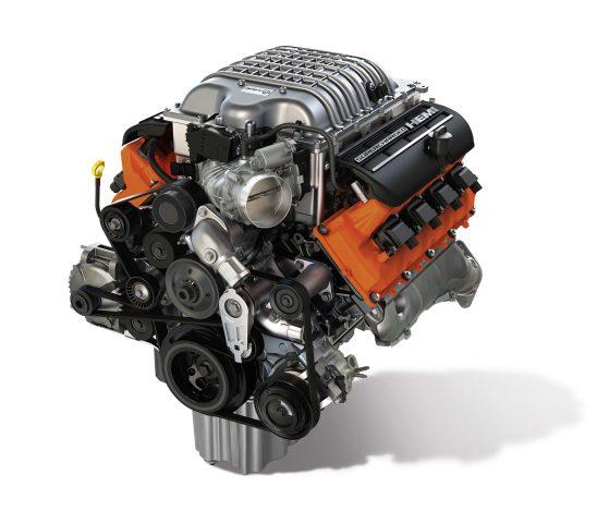 Dodge Hellcrate 6.2-liter supercharged V8 engine