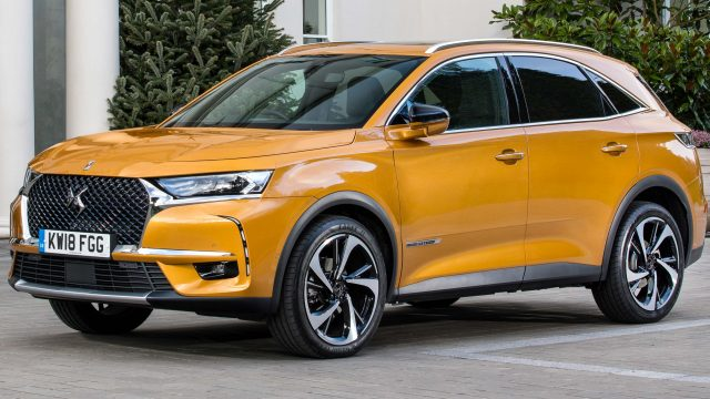 2018 DS 7 Crossback - yellow, front