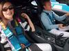 Emily Ratajkowski hot lap with Nico Rosberg