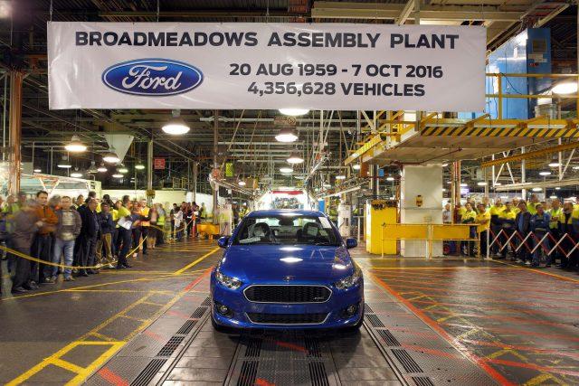 Ford Broadmeadows end of production - FGX Falcon XR8 sedan, blue
