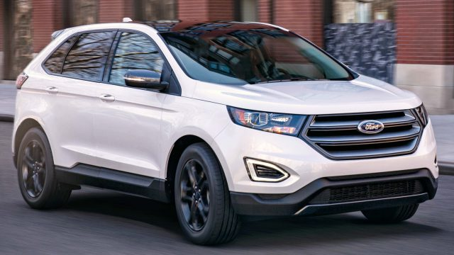 2018 Ford Edge SEL Sport Appearance Package - front, white