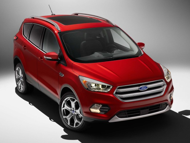 MY2017 Ford Escape facelift - front, red