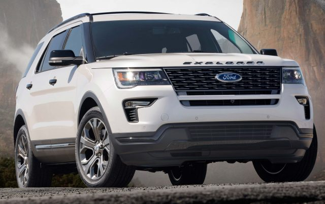 2018 Ford Explorer Sport - front, white