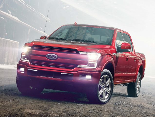 2018 Ford F-150 facelift - red, front