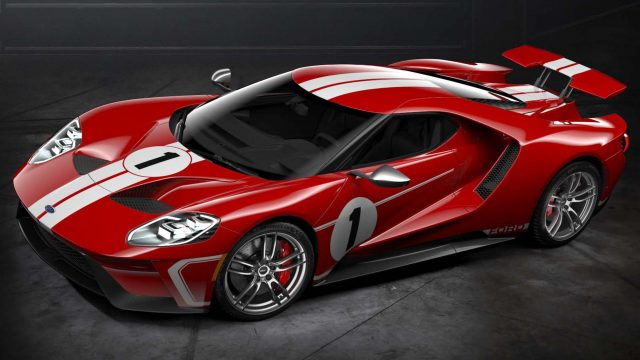 Ford Gt  Heritage Edition Front Red With White Stripes