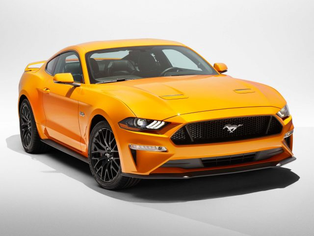 2018 Ford Mustang V8 GT - yellow, front