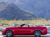 2015 Ford Mustang convertible - side, red