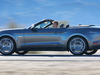 2015 Ford Mustang convertible - side, silver