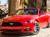 2015 Ford Mustang convertible - red, front, Palm Springs, CA