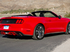 2015 Ford Mustang convertible - rear, red