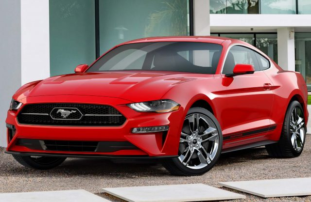 2018 Ford Mustang Pony Package - front, red