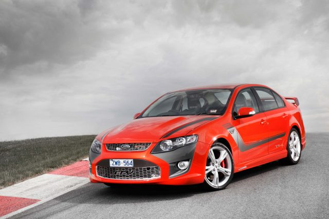 FPV GT-P (Ford Falcon FG Mark II) - front, red with black stripes