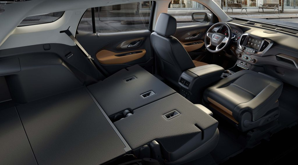 2018 GMC Terrain - rear seats folded flat