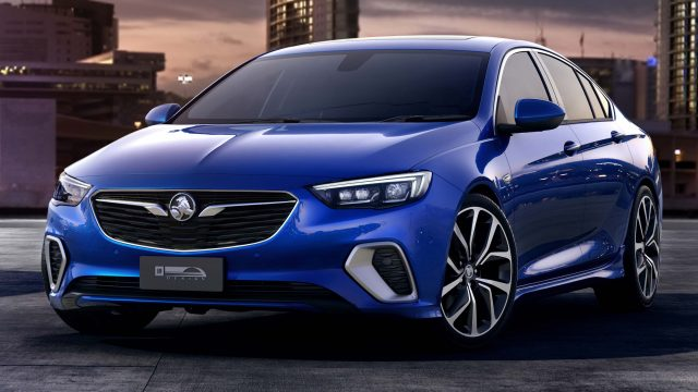 2018 Holden Commodore VXR - front, blue