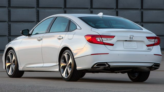 2018 Honda Accord Touring - rear, white