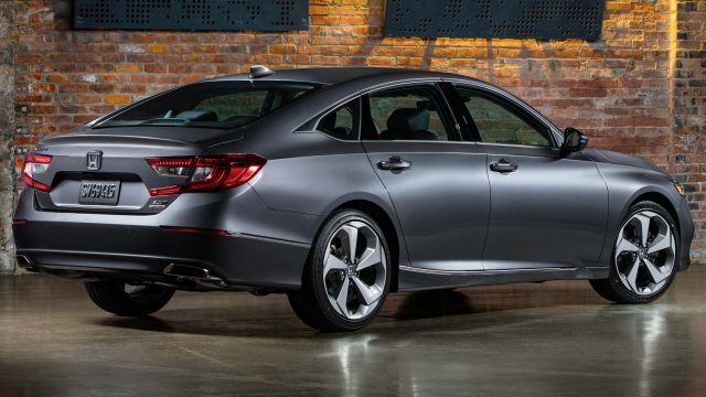 2018 Honda Accord Touring - rear, gray