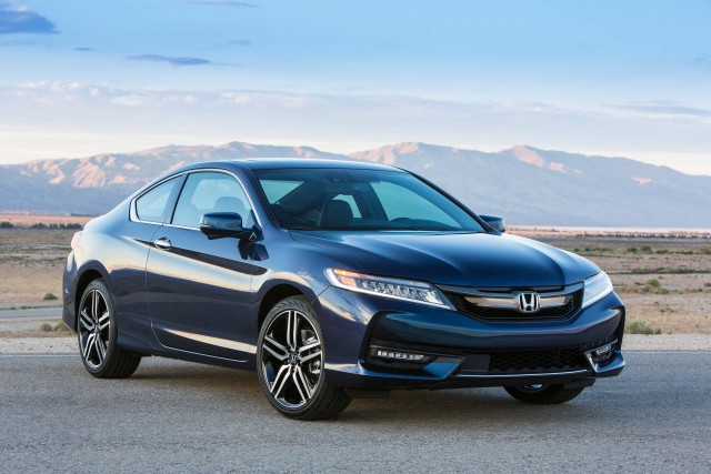 2016 Honda Accord Coupe Touring - front, static, blue