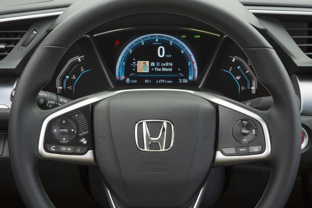 2016 Honda Civic Sedan - instruments and steering wheel