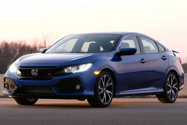 2017 Honda Civic Si Sedan Front Blue