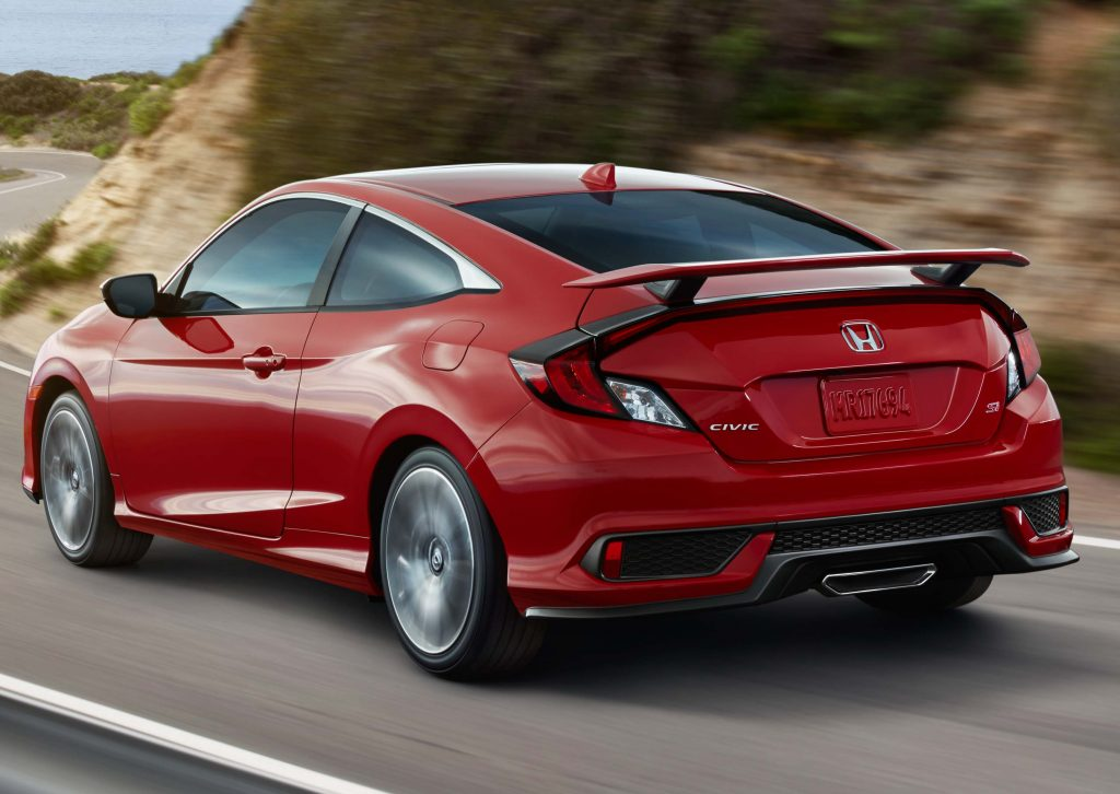 Type R 2017 Honda Civic Si Coupe Rear Red