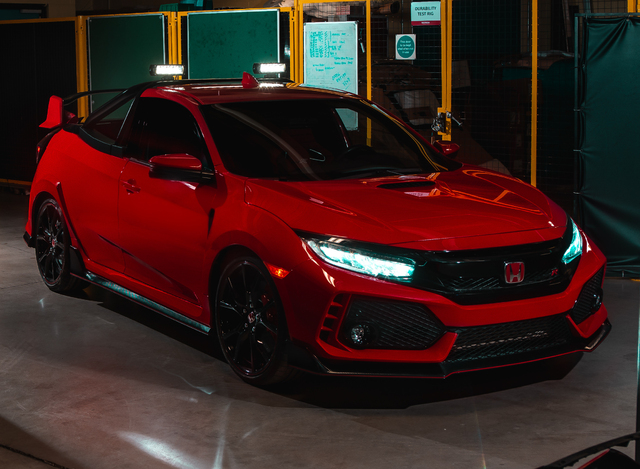 Honda Civic Type R Pickup Concept - front, red