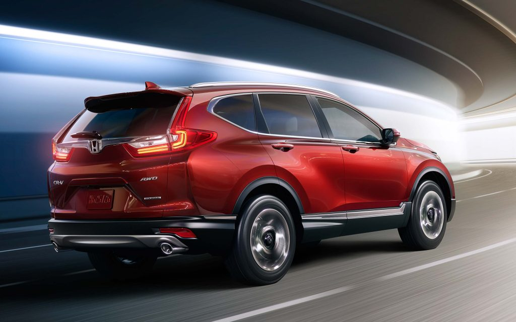 2017 Honda CR-V - rear, red