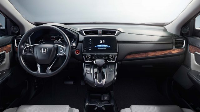 2017 Honda CR-V - interior, dashboard, two tone, cream leather, wood trim