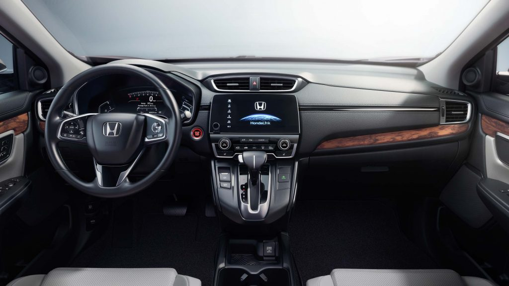 2017 Honda CR-V - interior, dashboard, two tone, cream leather, wood trim