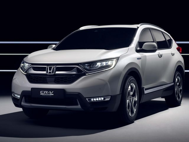 2017 Honda CR-V Hybrid Prototype - front, white