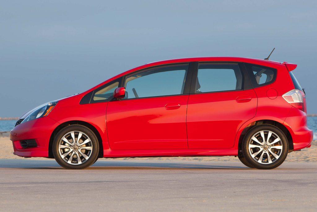 2012 Honda Fit Sport - side, red