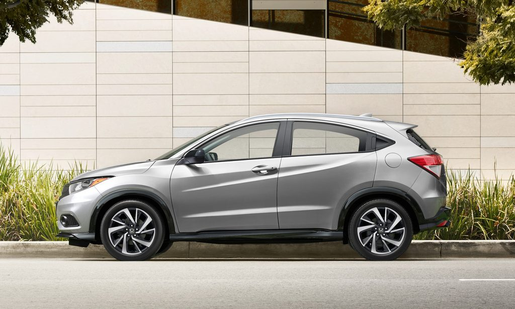 2019 Honda HR-V facelift - side, silver