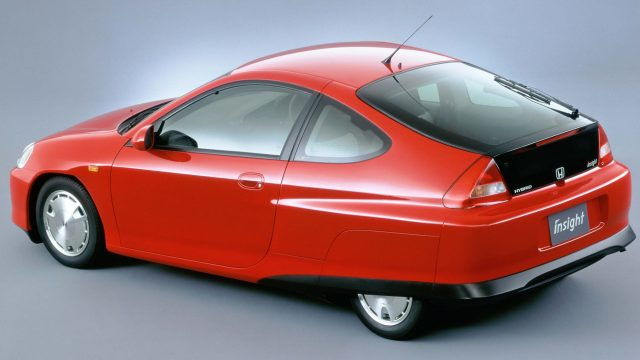 1999 Honda Insight Rear Red